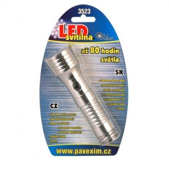 Kompakts lukturis 6 LED 3 LED, raud. Lazers kompass 3xAAA