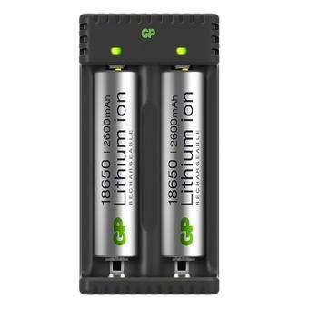 Uzlādēšanas ierice GP Li-ion + 2x18650 2600mAh